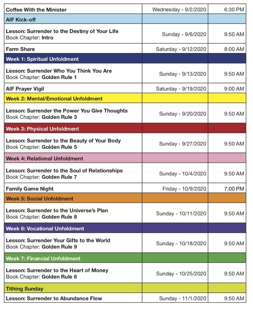 AIF 2020 Full Schedule